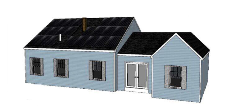 Residential Solar Panel Illustration
